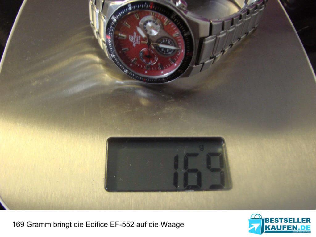 Gewicht im Test Casio Edifice