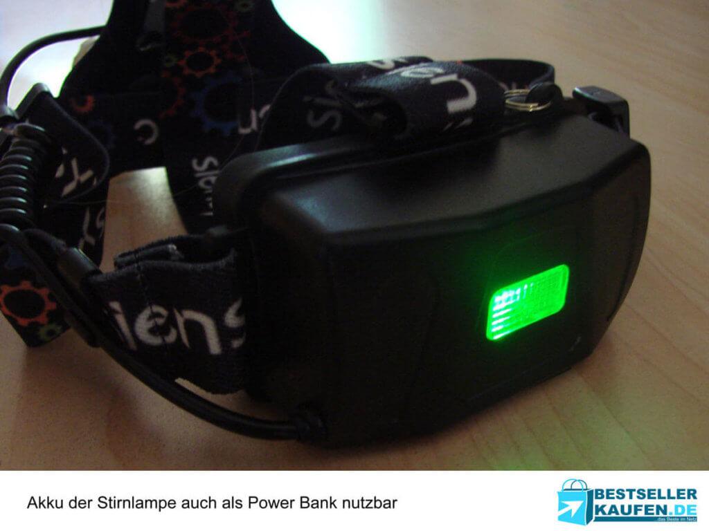 Stirnlampe Akku und USB