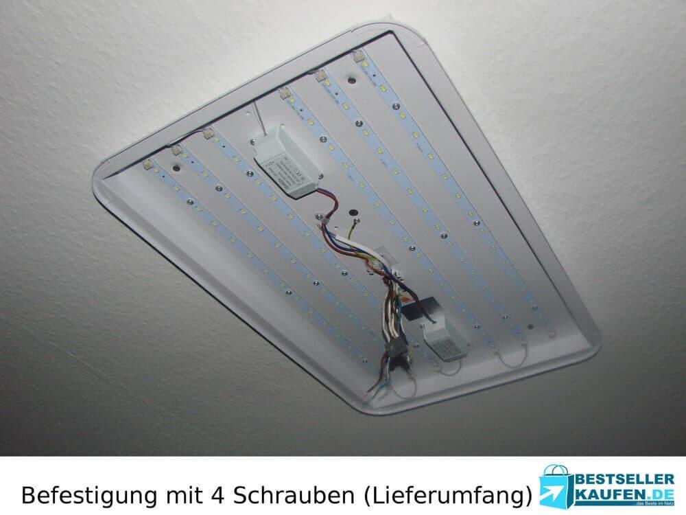 Installation Test LED Deckenleuchte